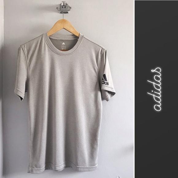 Adidas Shirts Adidas Mens Gray Climalite Short Sleeve Tshirt S Poshmark